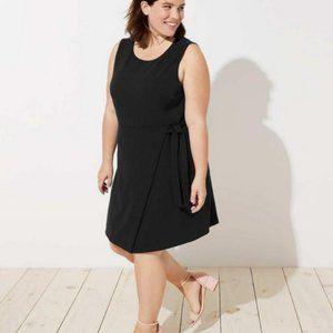 LOFT Black Wrap Dress NWT Size 20
